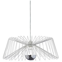 Dainolite Signature 1 Light Pendant in Matte White 83171P-WH