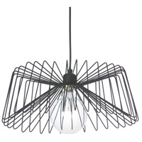 Dainolite Signature 1 Light Pendant in Matte Black 83221P-MB