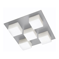 Dainolite Signature 5 Light Flush Mount in Satin Chrome 83557A-SC-OPW