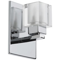 Dainolite Lighting Glass Cube 1 Light Vanity in Polished Chrome  83891A-PC photo thumbnail