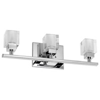 Glass Cube 3 Light 16 inch Polished Chrome Vanity Wall Light