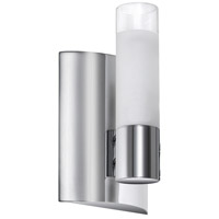 Frosted Cylinder 1 Light 4 inch Polished Chrome Vanity Wall Light