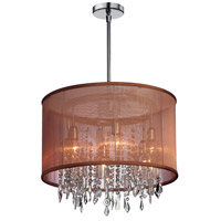 Dainolite 85301-PC-110 Bohemian 6 Light 18 inch Polished Chrome Chandelier Ceiling Light