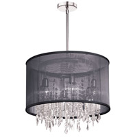 Dainolite Bohemian 6 Light Chandelier in Polished Chrome 85301-PC-115