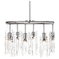 Dainolite Lighting Bohemian 6 Light Chandelier in Polished Chrome  85301-PC-CLR