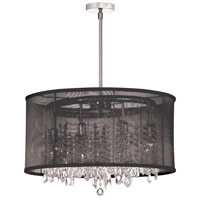 Dainolite Bohemian 8 Light Chandelier in Polished Chrome 85302-PC-115
