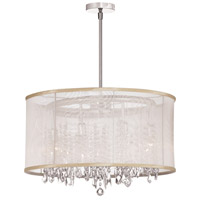 Dainolite Bohemian 8 Light Chandelier in Polished Chrome with Oyster Organza Shade 85302-PC-117
