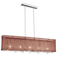 Bohemian Polished Chrome Chandelier Ceiling Light