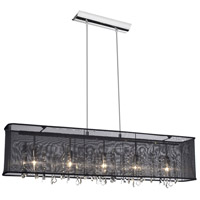 Dainolite Bohemian 5 Light Chandelier in Polished Chrome 85303A-44-115