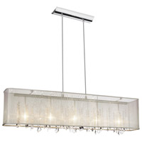 Dainolite Bohemian 5 Light Chandelier in Polished Chrome 85303A-44-117