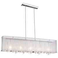 Bohemian 5 Light 7 inch Polished Chrome Chandelier Ceiling Light
