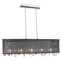 Dainolite Signature 5 Light Chandelier in Polished Chrome 85303A-46-115