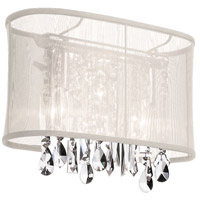 Dainolite Bohemian 1 Light Sconce in Polished Chrome with Oyster Organza Shade 85306W-46-117