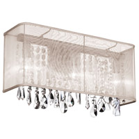Dainolite Bohemian 2 Light Vanity in Polished Chrome with Oyster Organza Shade 85310W-44-117