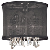 Organza Bling 3 Light 12 inch Polished Chrome Chandelier Ceiling Light