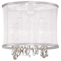 Dainolite Lighting Organza Bling 3 Light Chandelier in Polished Chrome  85312SF-PC-119