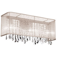 Dainolite Bohemian 3 Light Vanity in Polished Chrome with Oyster Organza Shade 85318W-44-117