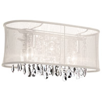 Dainolite Bohemian 3 Light Vanity in Polished Chrome with Oyster Organza Shade 85318W-46-117