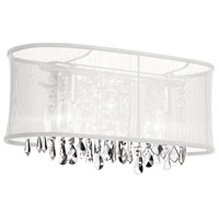 Dainolite Bohemian 3 Light Vanity in Polished Chrome with White Organza Shade 85318W-46-119