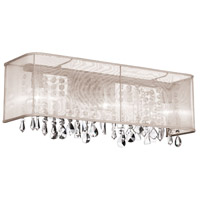 Dainolite Bohemian 4 Light Vanity in Polished Chrome with Oyster Organza Shade 85324W-44-117 photo thumbnail