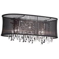 Dainolite 85324W-46-115 Bohemian LED 6 inch Polished Chrome Wall Sconce Wall Light in Black Organza