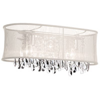 Dainolite Bohemian 4 Light Vanity in Polished Chrome with Oyster Organza Shade 85324W-46-117 photo thumbnail