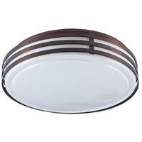 Ceiling 3 Light 14 inch Oil Brushed Bronze Flush-Mount Ceiling Light