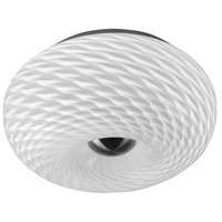 Casual 2 Light 11 inch Satin Chrome Flush Mount Ceiling Light