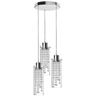 Dainolite Lighting Cynthia 3 Light Pendant in Polished Chrome  90623-12R-PC