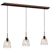 Nostalgia 3 Light 7 inch Oil Brushed Bronze Pendant Ceiling Light