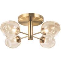 Dainolite ABI-204SF-VB Abii 4 Light 21 inch Vintage Bronze/Champagne Semi Flush Ceiling Light