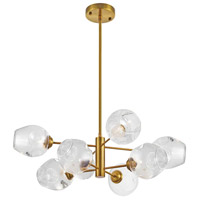 Abii 8 Light 26 inch Vintage Bronze/Clear Pendant Ceiling Light