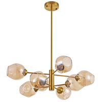Abii LED 26 inch Vintage Bronze Pendant Ceiling Light, Round