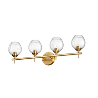 Dainolite ABI-284W-VB-CLR Abii 4 Light 26 inch Vintage Bronze Vanity Light Wall Light