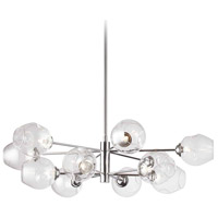 Abii LED 33 inch Polished Chrome Pendant Ceiling Light, Round