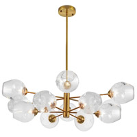 Abii 12 Light 33 inch Vintage Bronze/Clear Pendant Ceiling Light