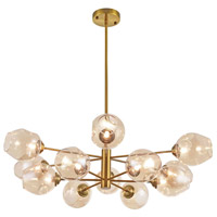 Abii LED 33 inch Vintage Bronze Pendant Ceiling Light