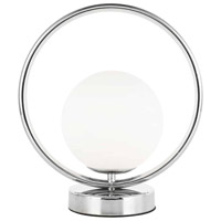 Dainolite ADR-101T-PC Adrienna 11 inch 40 watt Polished Chrome Table Lamp Portable Light