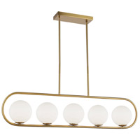 Dainolite ADR-405HP-AGB Adrienna LED 40 inch Aged Brass/White Pendant Ceiling Light