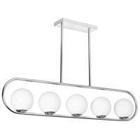 Dainolite ADR-405HP-PC Adrienna 5 Light 40 inch Polished Chrome Horizontal Pendant Ceiling Light