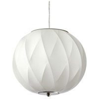 DainoliteAlba 2 Light Pendant in Satin Chrome with White Shade ALB-182P-SC