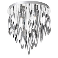 Allegro 4 Light 14 inch Polished Chrome Flush Mount Ceiling Light