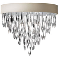 Dainolite Allegro 4 Light Flush Mount in Polished Chrome ALL-164FH-PC-PEB