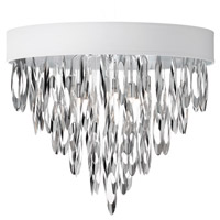 Dainolite Allegro 4 Light Flush Mount in Polished Chrome ALL-164FH-PC-WH