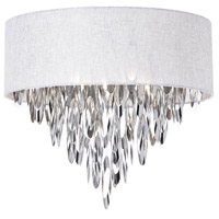 Allegro 4 Light 17 inch Polished Chrome Flush Mount Ceiling Light