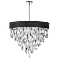 Dainolite Allegro 8 Light Chandelier in Polished Chrome ALL-248C-PC-BLK