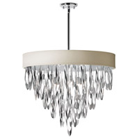 Dainolite Allegro 8 Light Chandelier in Polished Chrome ALL-248C-PC-PEB