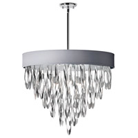 Allegro 8 Light 24 inch Polished Chrome Chandelier Ceiling Light