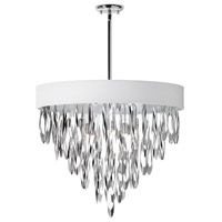 Dainolite Allegro 8 Light Chandelier in Polished Chrome ALL-248C-PC-WH