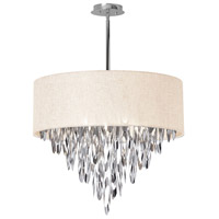 Dainolite Allegro 8 Light Chandelier in Polished Chrome ALL-258C-PC-CRM